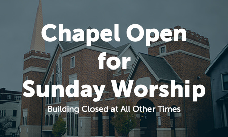 Chapel Open for Sunday Worship