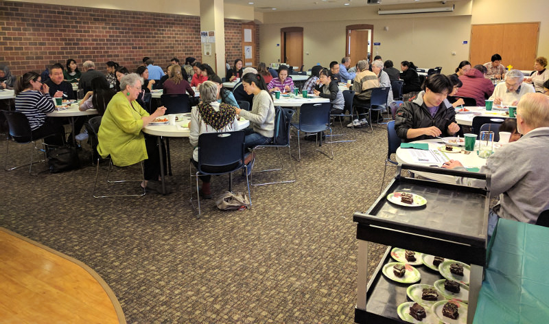 An international luncheon at Chapel